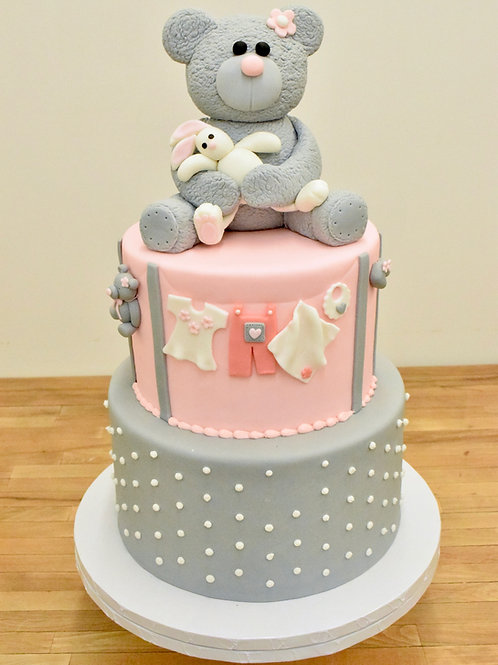Teddy Bear and Bunny Cake
