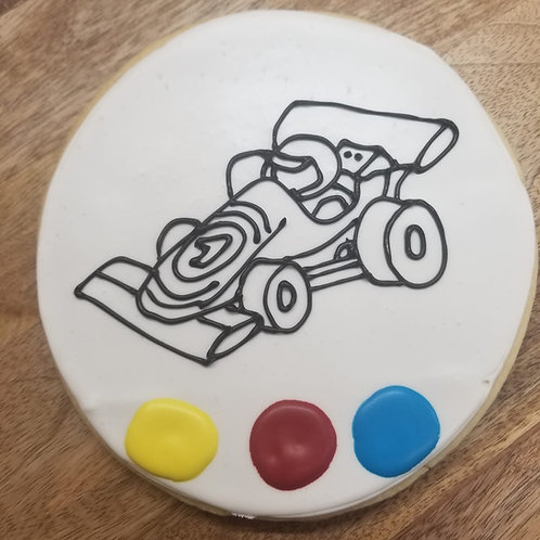 "6.5"" Color Me In Cookie (Race Car)"