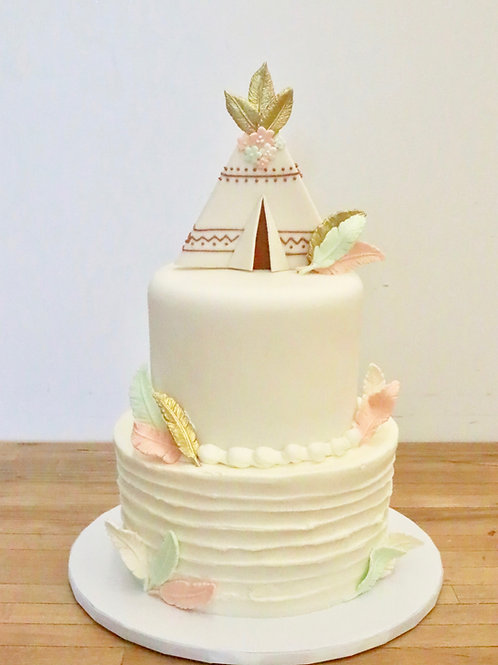 TeePee Bohemian Cake