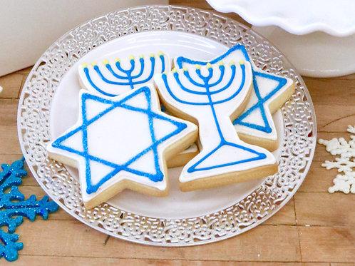 6 Hanukkah Cookies (6 per design)