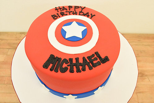 Captain America Cake Los Angeles Bakery Sherman Oaks