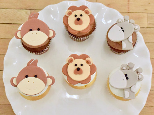 Baby Animal Cupcakes, Custom Cupcakes, Baby Shower Cupcakes, Los Angeles Bakery, Sherman Oaks