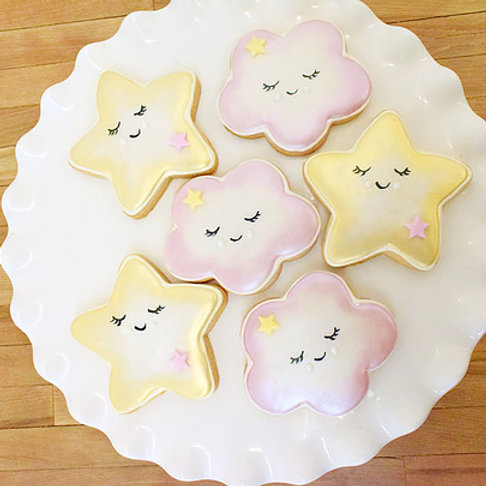 Twinkle Twinkle Little Star Cookies, Baby Shower Cookies,  Los Angeles Bakery, Sherman Oaks