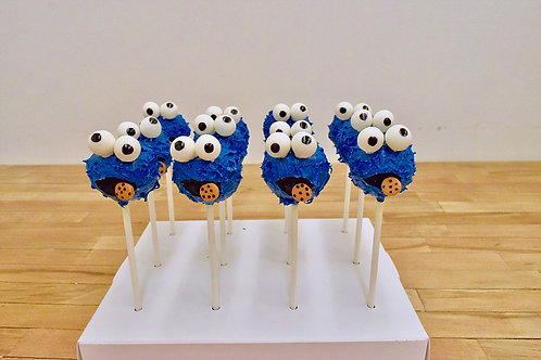 Cookie Monster Cake Pops, Sesame Street, Los Angeles Bakery, Sherman Oaks Bakery