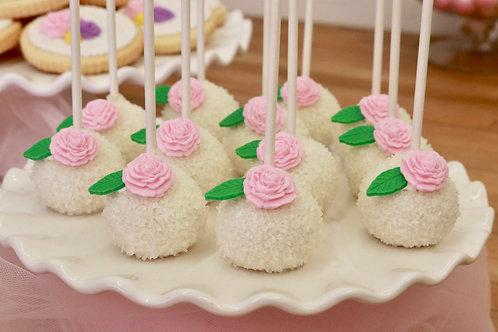 """""""Dozen Roses"""" cake pops"""