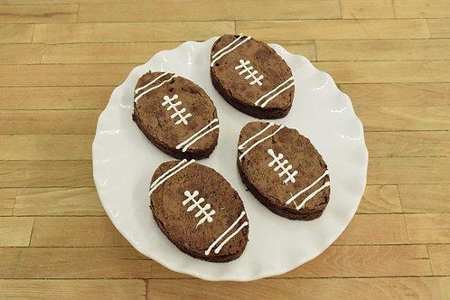 6 Football Brownies
