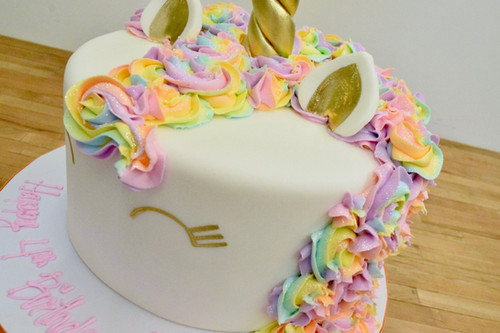Rainbow Unicorn Cake Colored Hair 3 Size Options