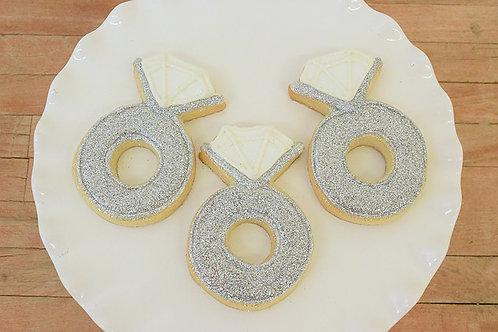 Ring Cookies, Custom Cookies. Bridal Shower Cookies,Los Angeles Bakery, Sherman Oaks