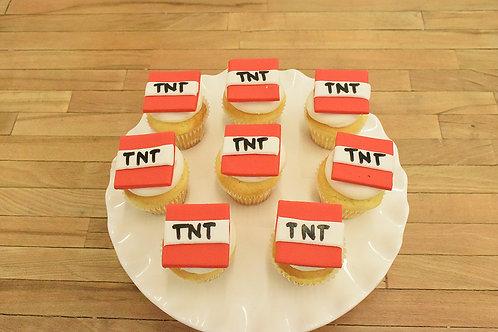 Minecraft Cupcakes, TNT Cupcakes, Los Angeles Bakery, Sherman Oaks
