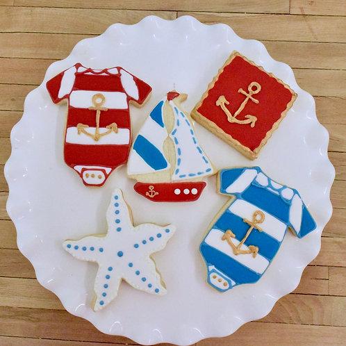 Nautical Baby Shower Cookies, Custom Cookies,Los Angeles Bakery, Sherman Oaks