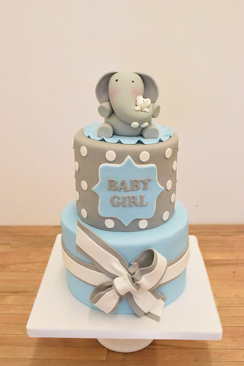 Elephant and Teddy Bear Cake