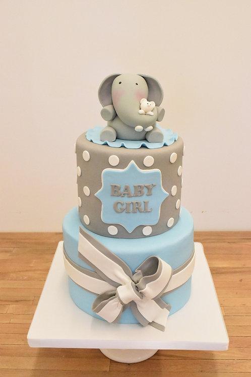 Elephant Cake, Baby Shower Cake, Custom Cake,  Los Angeles Bakery, Sherman Oaks
