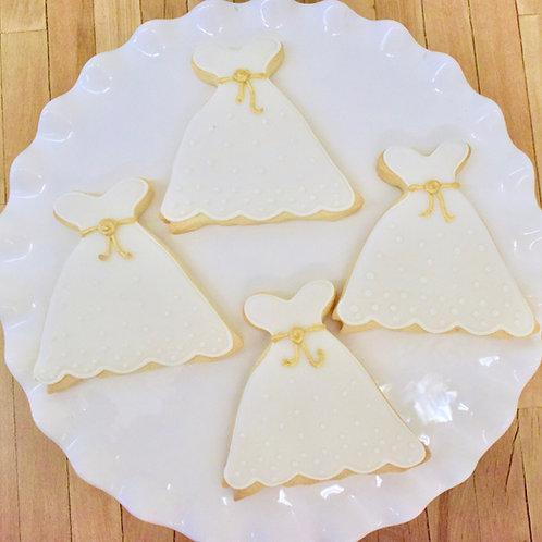 Bridal Dress Cookies, Bridal Shower Cookies, Los Angeles Bakery, Sherman Oaks