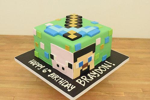 Minecraft Cake, Custom Cake, Birthday Cake, Los Angeles Bakery, Sherman Oaks