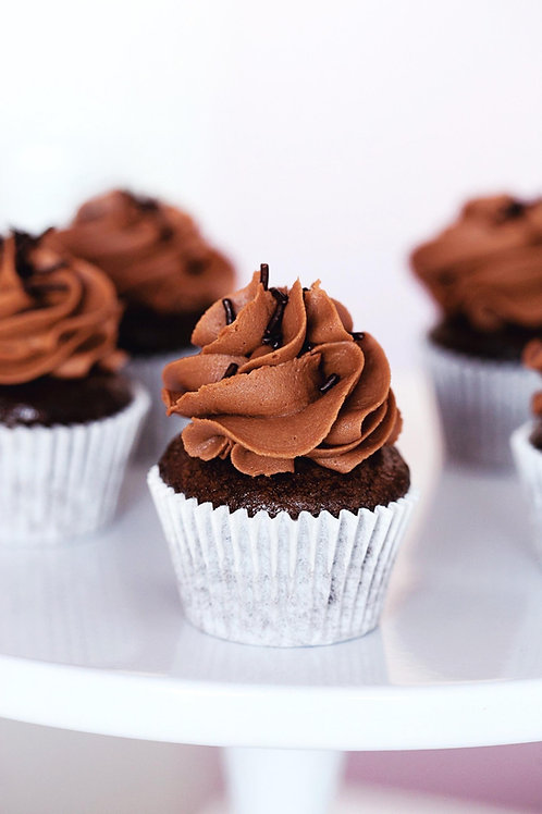 12 Mini Vegan Chocolate Cupcakes