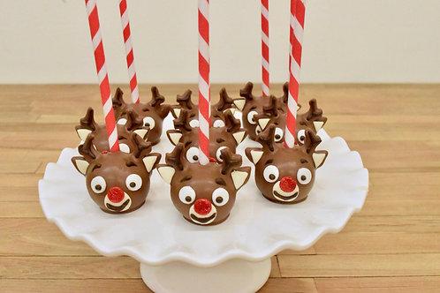 6 Rudolph Cake Pops