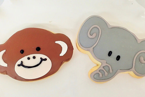 Monkey Cookies, Elegant Cookies, Baby Shower Cookies, Custom Cookies, Los Angeles Bakery, Sherman Oaks