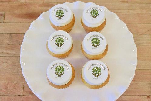 12 Edible Image/Logo Regular Size Cupcakes