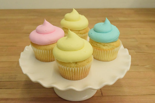 6 Color cupcakes