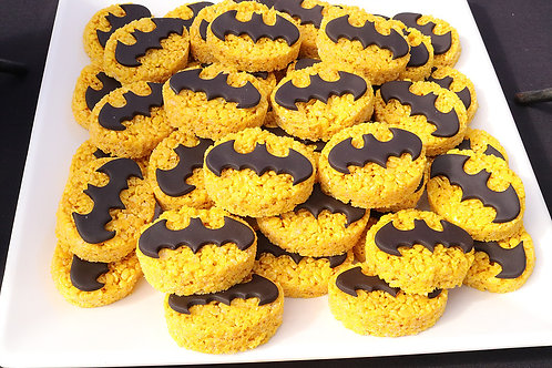 12 Batman Symbol Rice Krispies