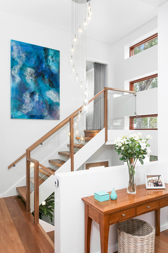 Staircase with Feature Pendant Light