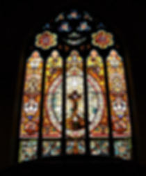 Dove Window in First Presbyterian Church Sanctuary