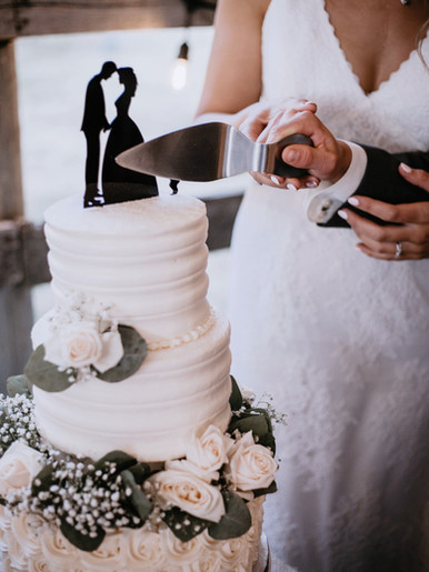 Three Tiered Buttercream Wedding Cake