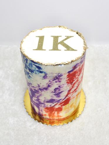 Rainbow Marble Buttercream Cake