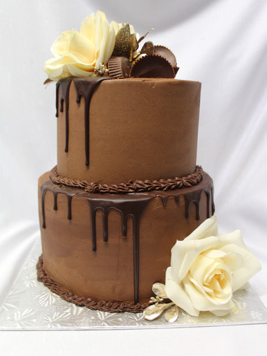 Two Tiered Chocolate Cake