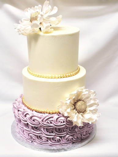 Three Tiered Buttercream Cake
