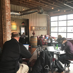 Co-working at Opera House Brewing Co.