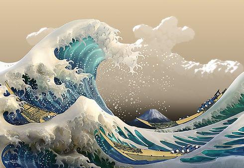 Digital The Great Wave off Kanagawa   Ho