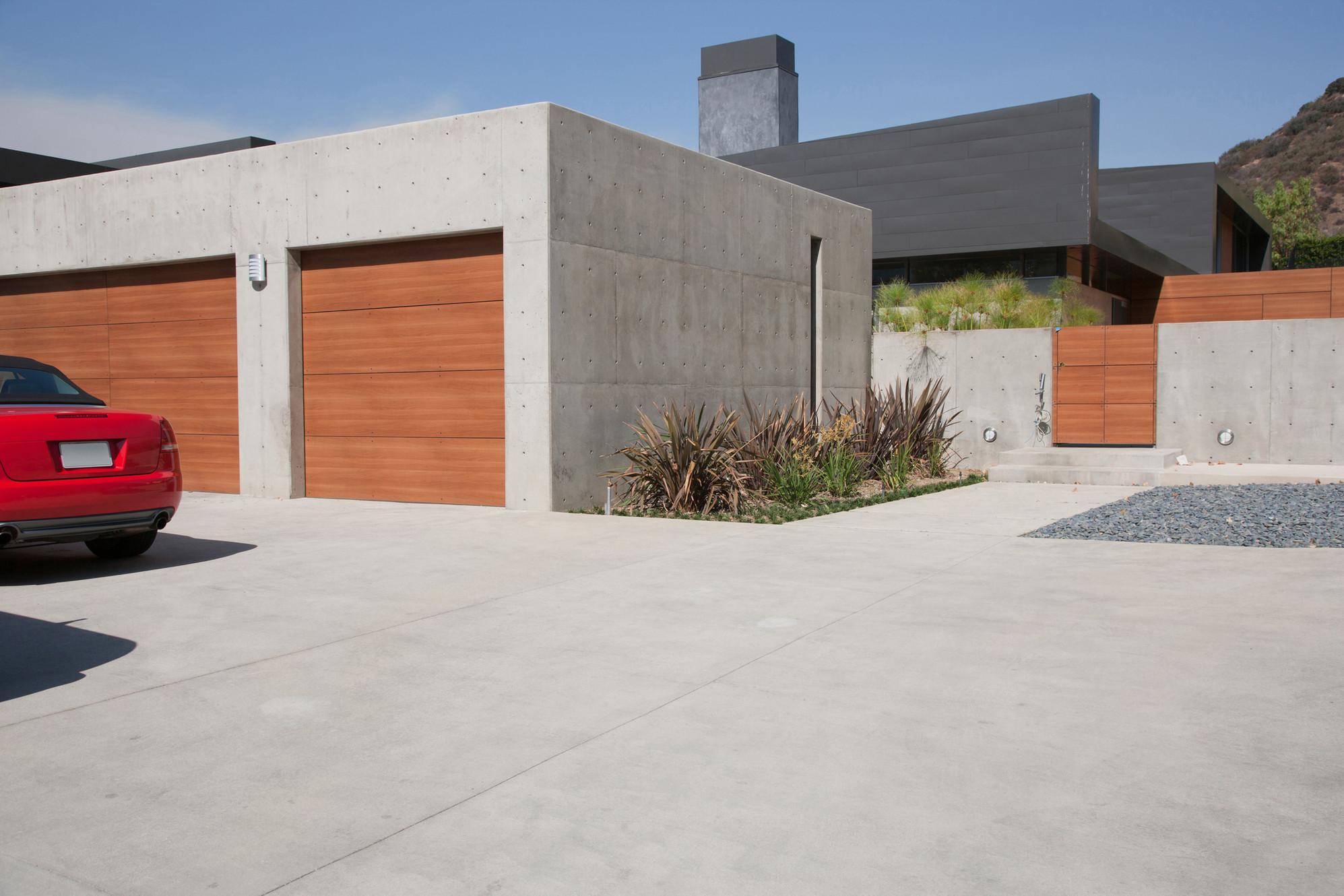 Image result for modern two car garage