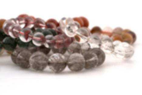strings of gemstone beads
