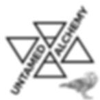 B&W Untamed Alchemy Logo with Raven.png
