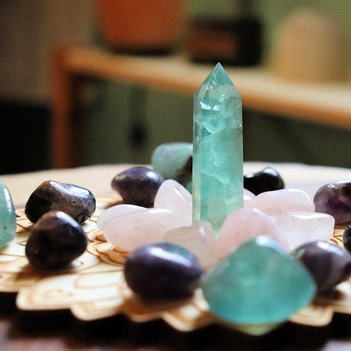 Heart Mandala Grids w/Stones