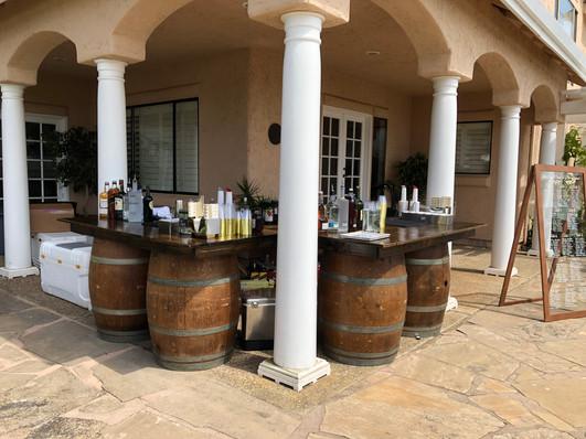 6' Floating Wine Barrel Tables