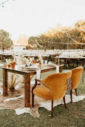 Behind the sweetheart table