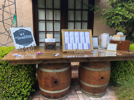 8' Floating Wine Barrel Table