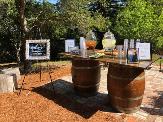 6' Floating Wine Barrel Table
