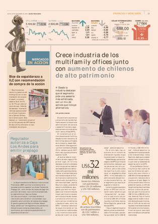 Crece industria de los multifamily offices junto con aumento de chilenos de alto patrimonio
