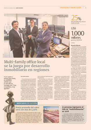 Multi-family office local se la juega por desarrollo inmobiliario en regiones