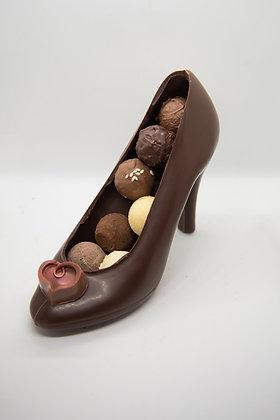 Chaussure femmes chocolat lait ou noir garni M
