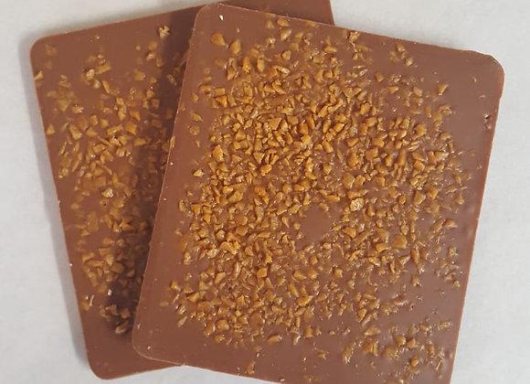 Tablette chocolat lait Caramelis