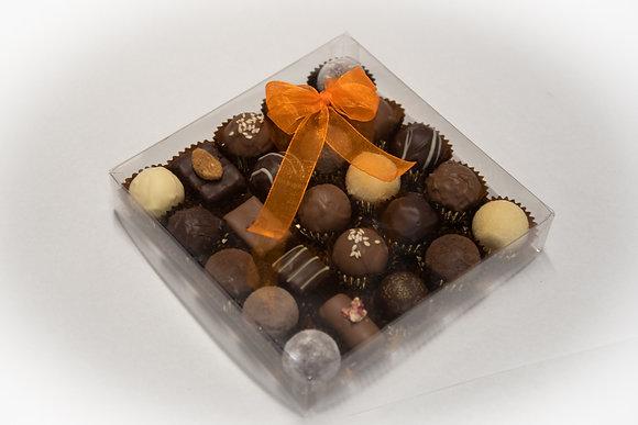 Boîte mélange truffes - pralinés 25 pces sans alcool
