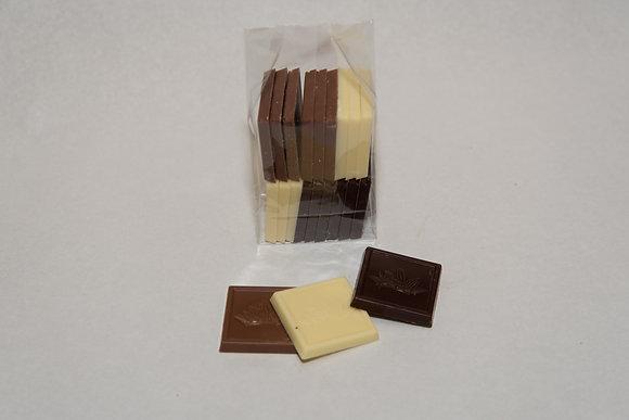 Sachet mini plaquettes de chocolats 18 pces