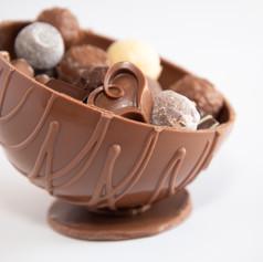 sphère en chocolat