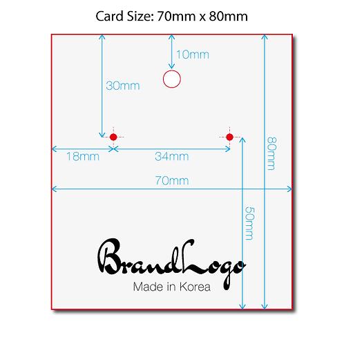 Jewellery Cards (70x80mm)