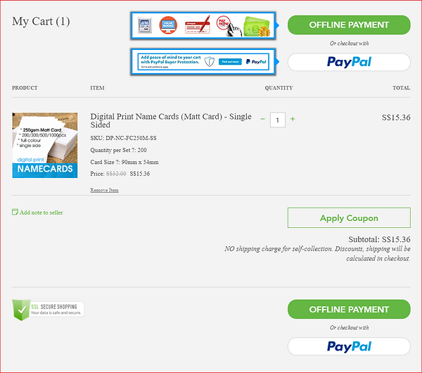 My Cart Page
