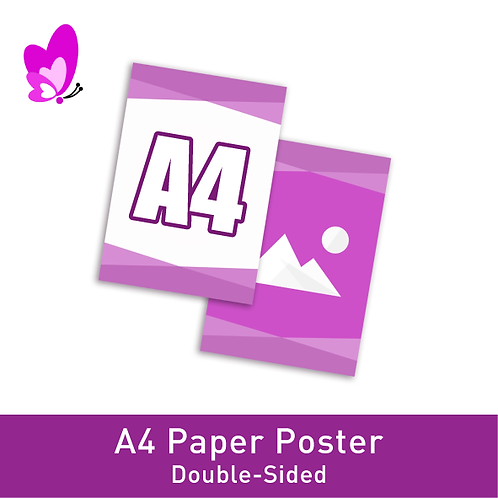 Digital Print Poster - A4 Double-Sided